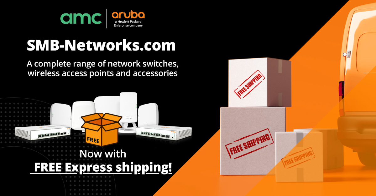 AMC and Aruba Networks partner to launch the UK's 1st dedicated SMB online Aruba store!